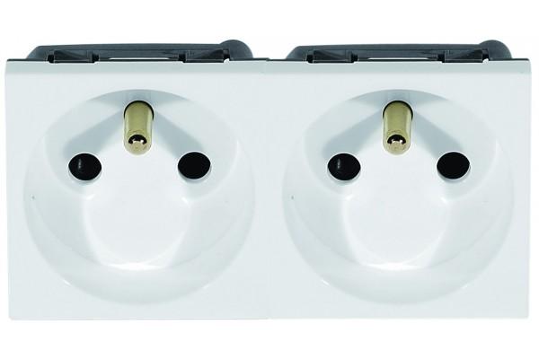 Prise Secteur Double 45X45 10/16 A