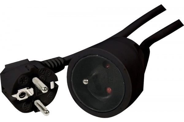 Rallonge Électrique Secteur Standard Noire - 10.00M