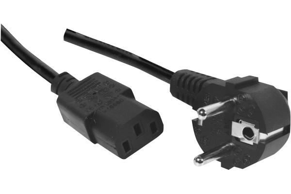 Cordon électrique secteur standard – C13 noir 10 m