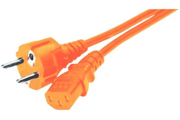Cordon alim pc CEE7 droit – C13 orange 1,80 m