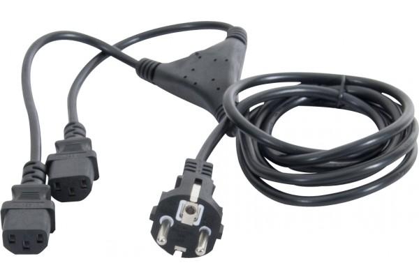 Cable En Y 2P+T Cee7 Male / 2Xc13