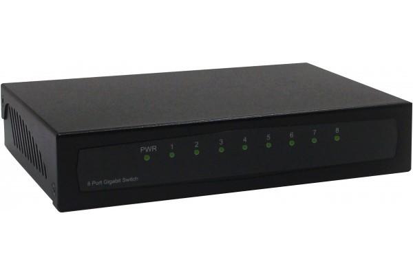 DELXAN Switch Gigabit 8 ports métal noir