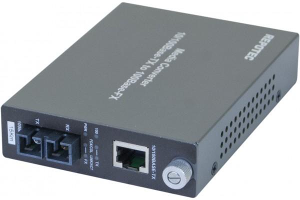 Convertisseur fibre optique/RJ45 – 100FX SC Mmode 15Kms