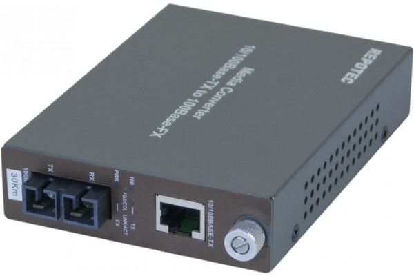Convertisseur fibre optique/RJ45 – 100FX SC Mmode 30Kms
