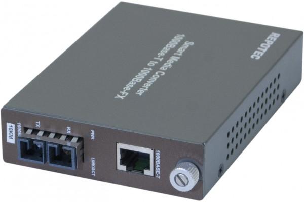 Convertisseur fibre optique/RJ45 – GIGABIT Mmode 10Kms