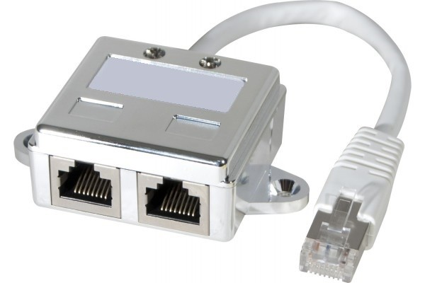 DOBLADOR PUERTO RJ45 SHIELDED