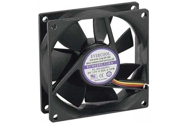Ventilateur Lubrifié À Vie - 80X80X25