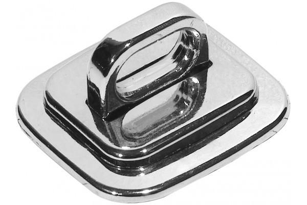 Plaque d'antivol métal avec vis