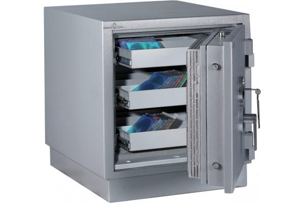 Armoire ignifuge/antivol pour supports magnétiques 59L à clé