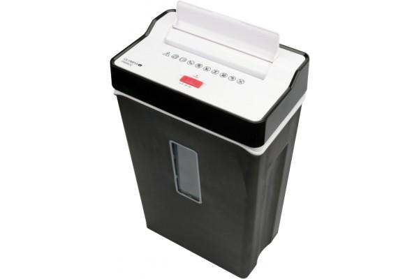 Destructeur documents & cb 6 feuilles / 7 litres – noir