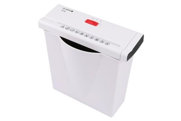 Destructeur documents 10 feuilles / 21 litres – blanc