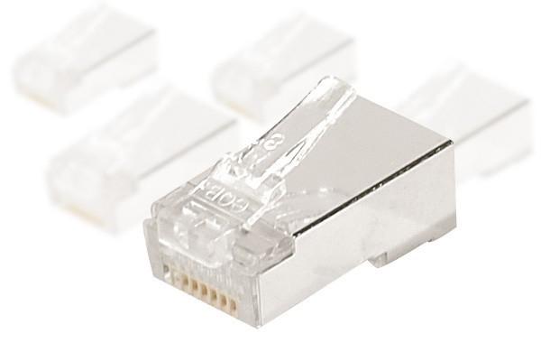 Connecteur 8P8C RJ45 CAT5e stp pour monobrin lot de 10
