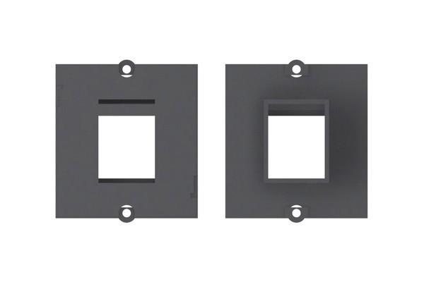 Plastron vide 1 embase Keystone (RJ45, USB, HDMI)