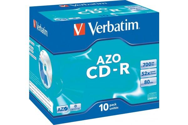 CD-R 80 700Mo Verbatim Pack de 10 boites cristal