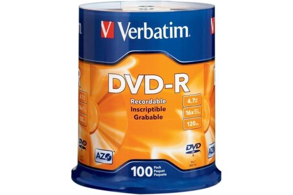 Spindle de 100 dvd-r,verbatim 4.7GB 16x,