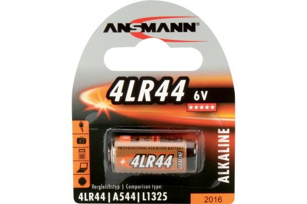 Pile alcaline 4 LR44 blister de 1