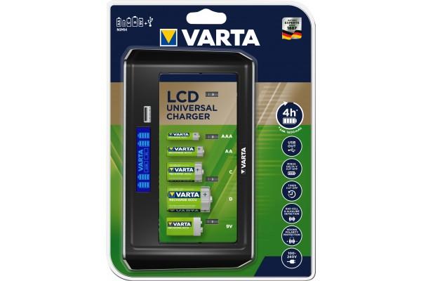 Chargeur de batterie varta universel lcd (sans accus)