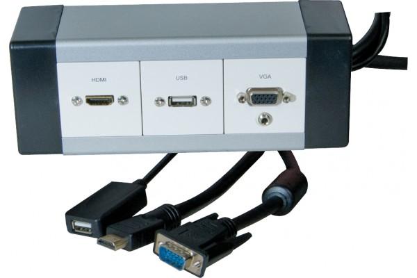 Boitier alu deport videoprojecteur vga+audio/usb/hdmi – 15M