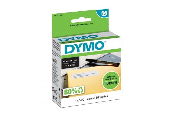 DYMO Rouleau de 500 étiquettes noir sur blanc 19x51mm
