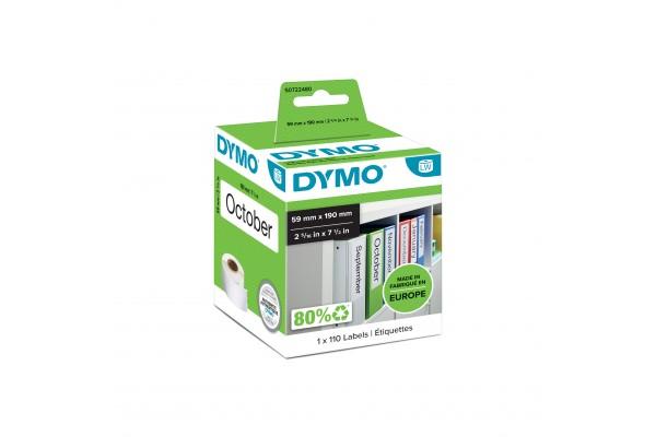 DYMO Rouleau de 110 étiquettes classeur 190 x 59 mm