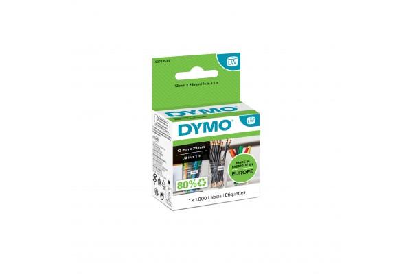 Rouleau dymo 1000 etiquettes 24×12 mm pour labelwriter