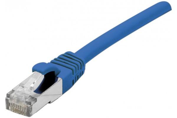 Cordon RJ45 catégorie 5e F/UTP snagless bleu – 0,3 m