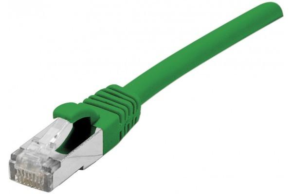 Cordon RJ45 catégorie 5e F/UTP snagless vert – 0,3 m