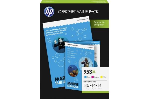 Pack de 3 cartouche HP 1CC21AE n°953 – 3 couleurs